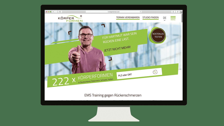 Körperformen Website Content