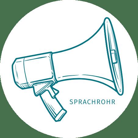 Sprachrohr Megafon