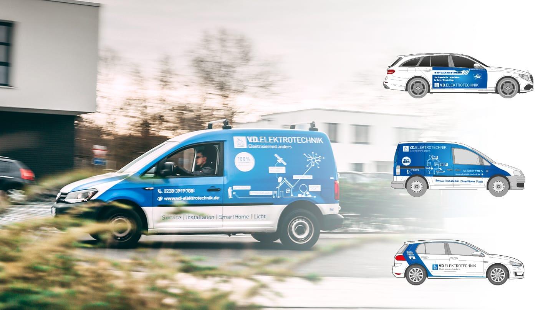 Fahrzeugbeschriftung V.D. Elektrotechnik Branding