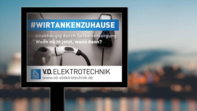 Roadscreen Out-of-Home-Werbung V.D. Elektrotechnik