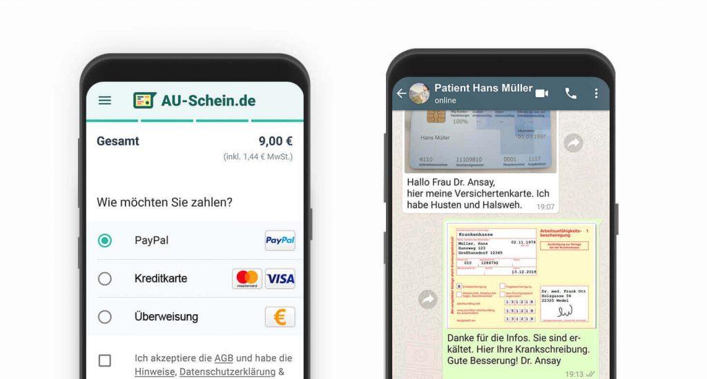 WhatsApp AU-Schein
