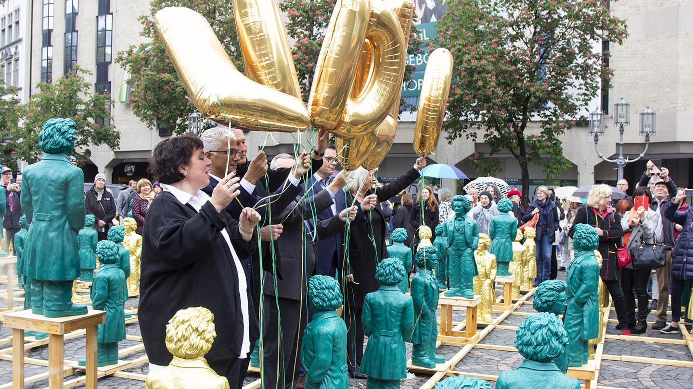 Beethoven Statuen Bonn Pressearbeit