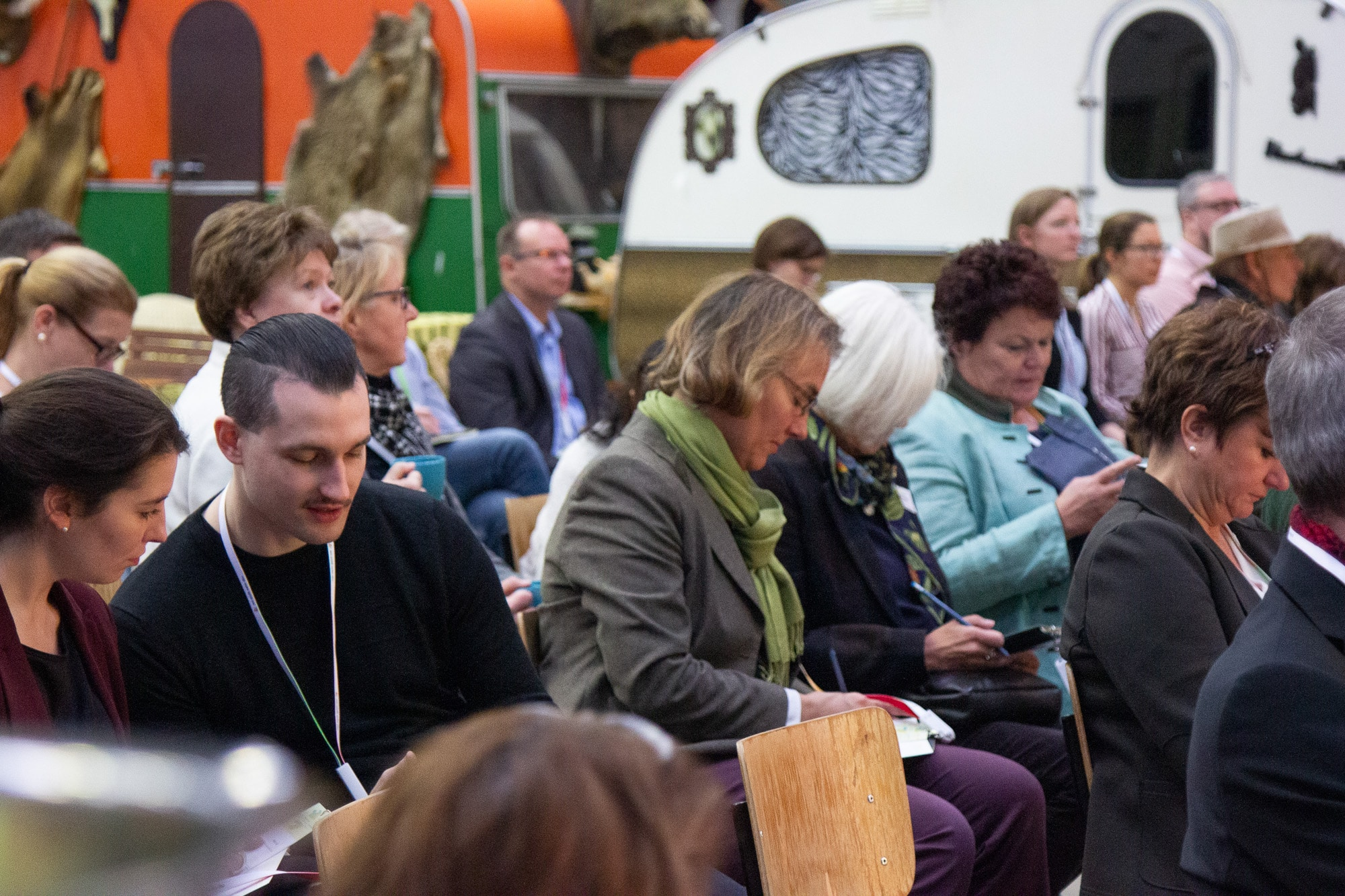 Teilnehmer des Sweetcamp, Veranstaltung im Barcamp-Format des Süßstoff-Verband, Eventmanagement
