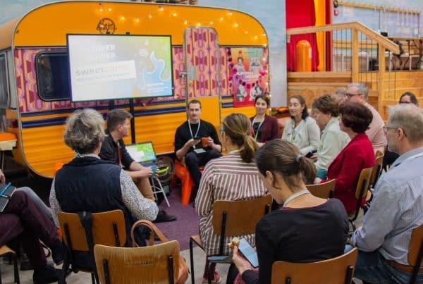 Gesprächsrunde beim Sweetcamp, Barcamp-Format des Süßstoff-Verband, Eventmanagement