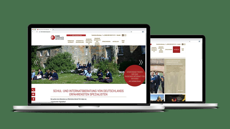 Webdesign Webseite Euro Internatsberatung