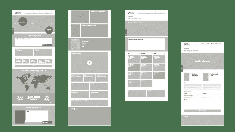 Website-Erstellung Konzeption Webseite Euro