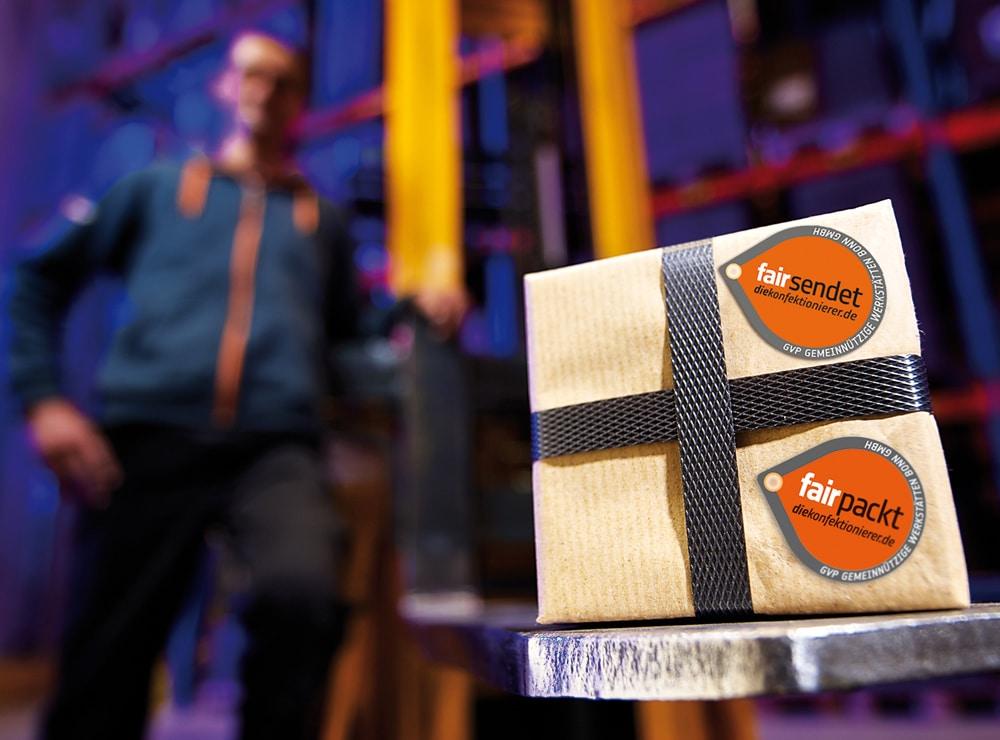 fairsendet und fairpackt WfbM Branding