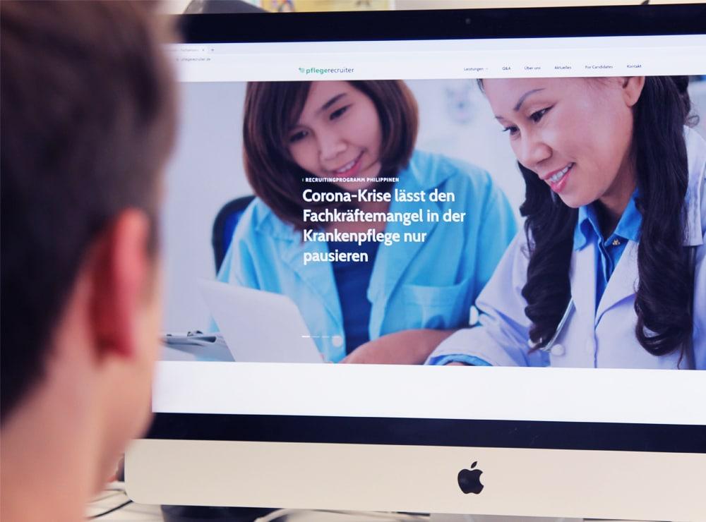 Pflegerecruiter Website Arbeit und Soziales