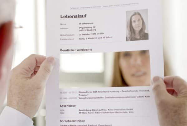 Mut zur Lücke Kampagne Jobcenter Bonn Lebenslauf