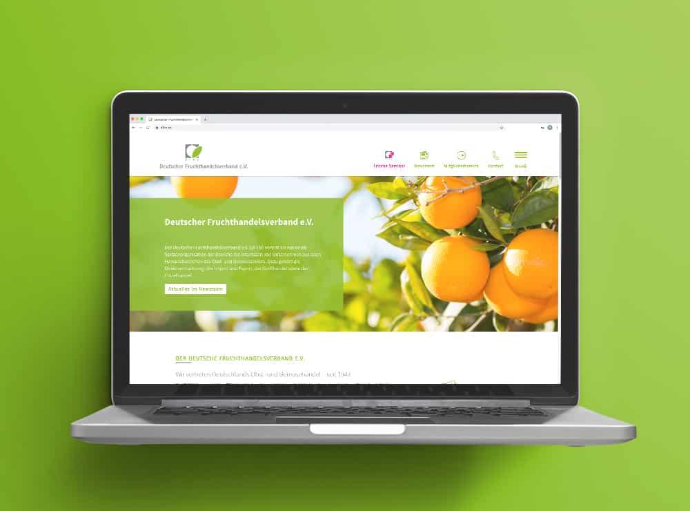 Website Deutscher Fruchthandelsverband