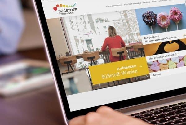Startseite der Süßstoff-Verband e.V. Webseite