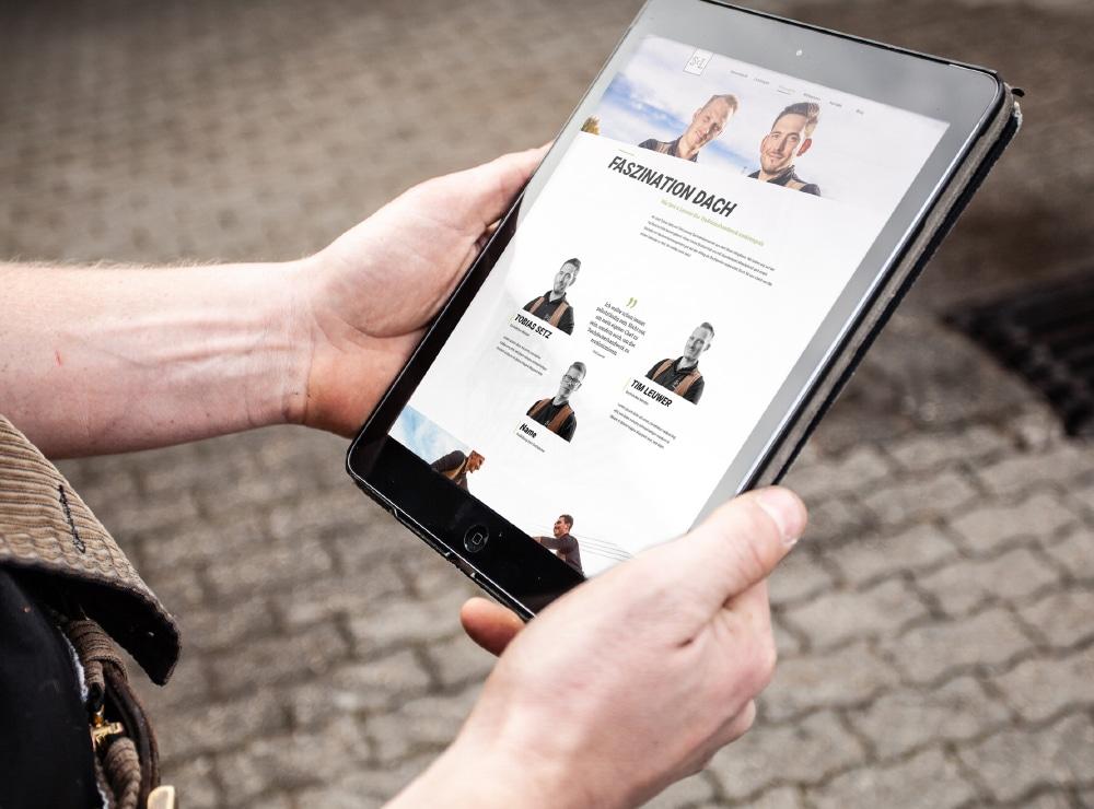 Setz und Leuwer Website auf dem iPad