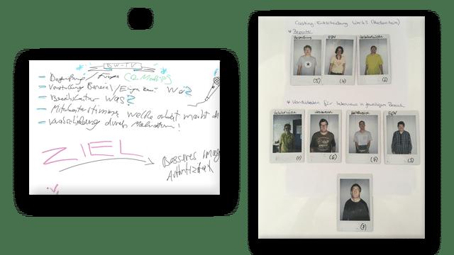 Scribbel zu Kanal BW Mitarbeiter-Spots