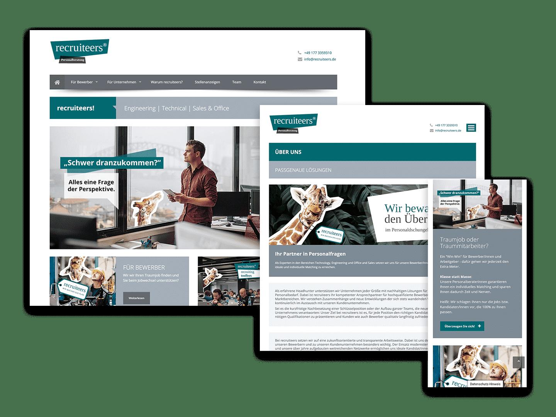 Website Entwicklung recruiteers