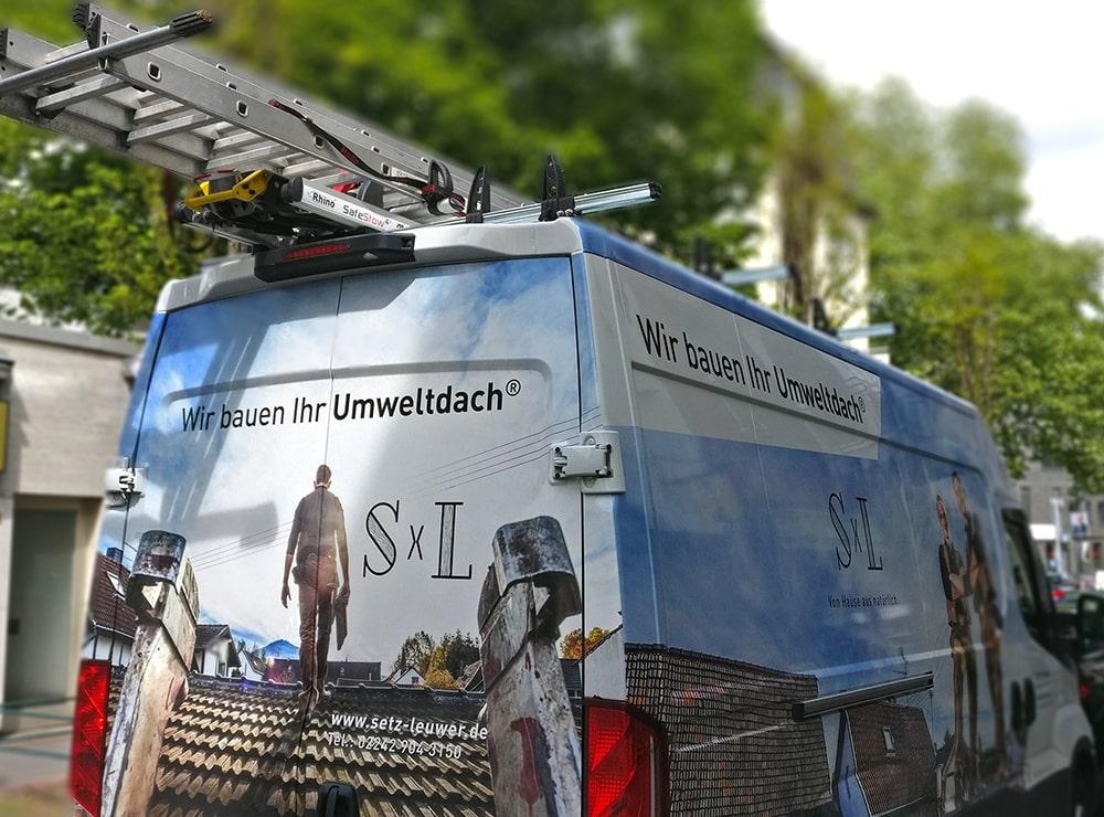 Setz Leuwer Dachdecker Fahrzeugbeschriftung