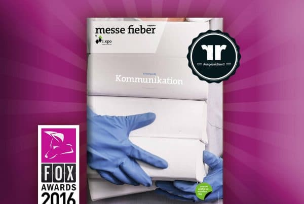 Cover des preisgekrönten Magazins Messefieber