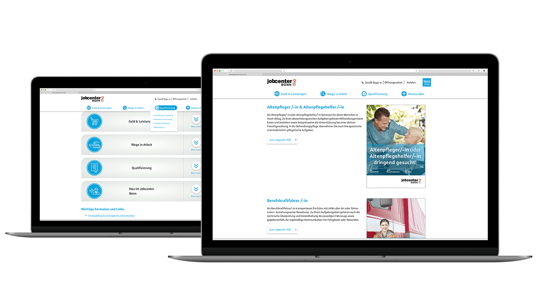 Jobcenter Bonn neue Website
