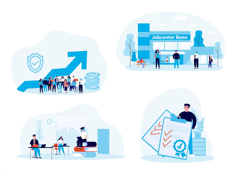 Jobcenter Erklärvideo Collage