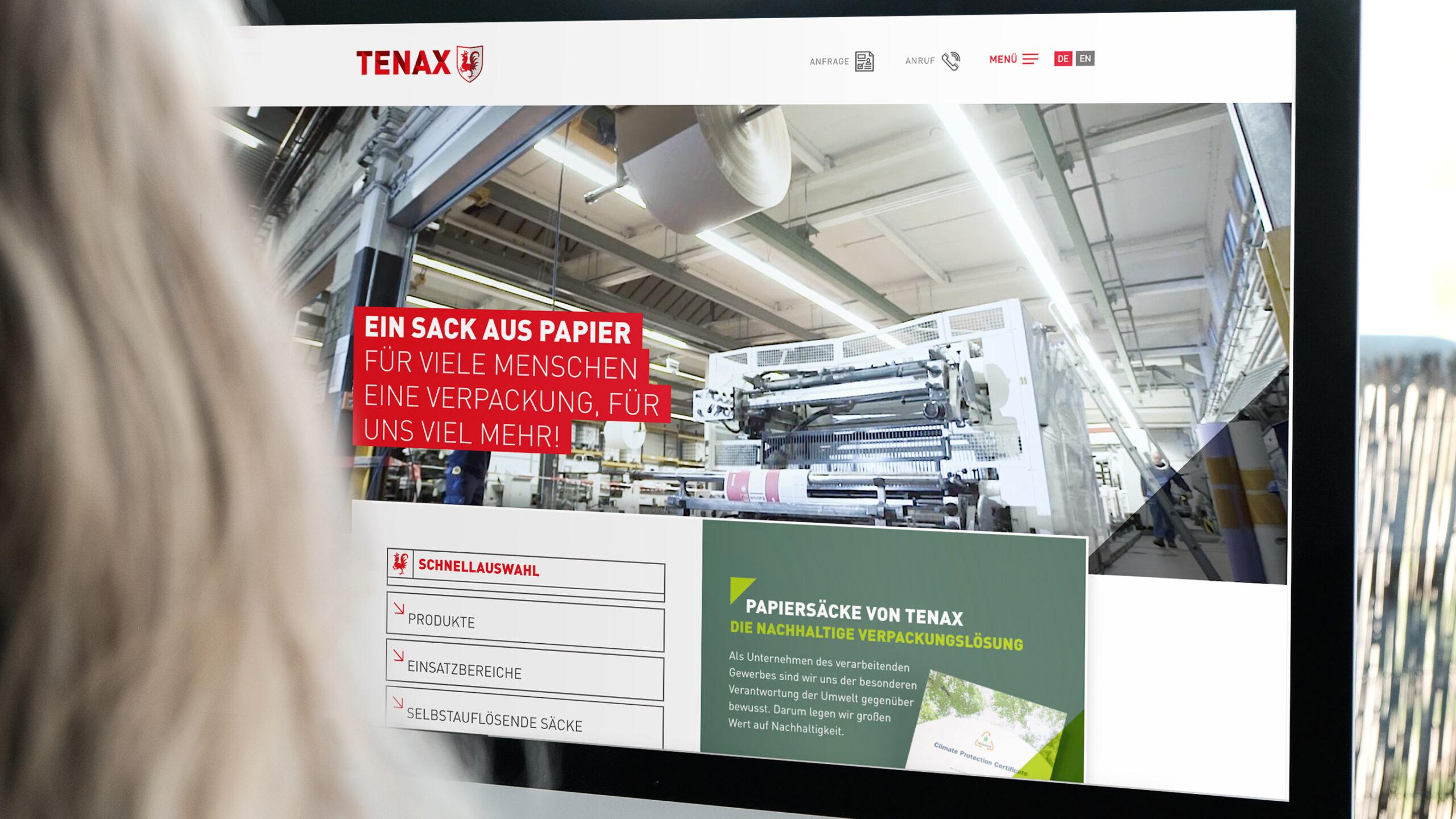 TENAX Webseite Redesign